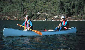 Seniors Canoeing, photo by Mark Gibson